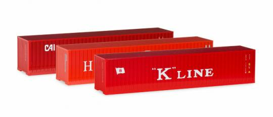 Container Set 3x40ft. Boxcontainer HH Süd 1:120 - 066730