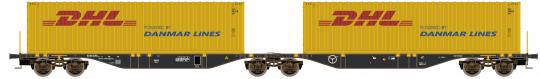 Containerwagen Sggmrs90 mit DHL Container H0/GL - 58955